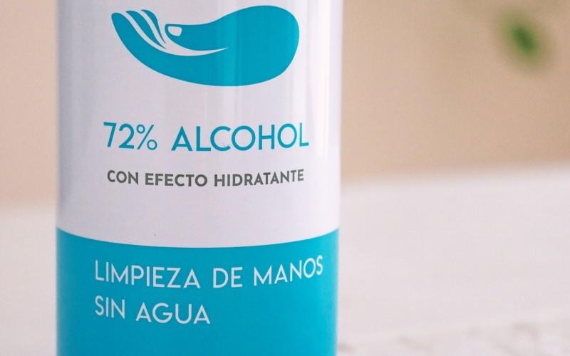 Contiene 72% de alcohol