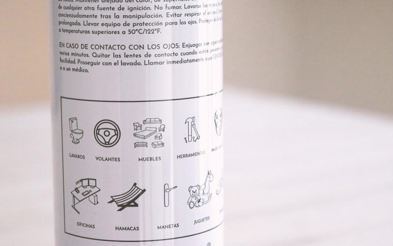 Instrucciones del spray higienizante