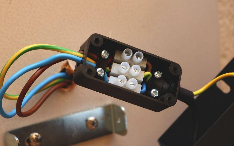 Sistema eléctrico del aplique exterior