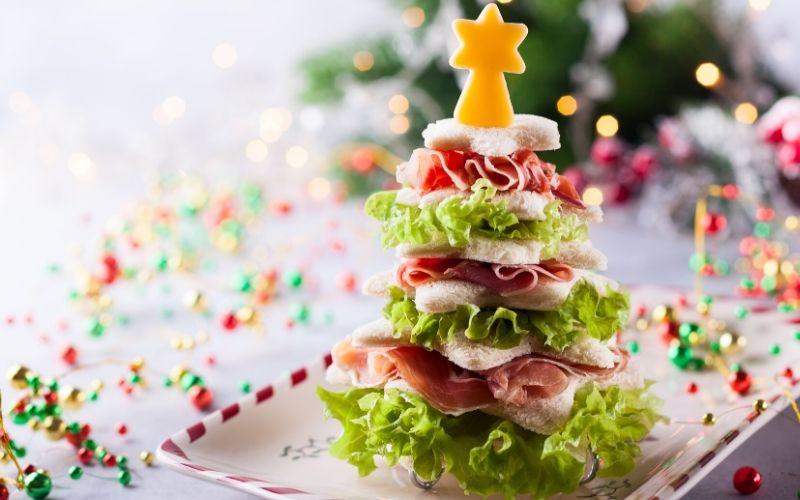 Árbol de Navidad de sandwich