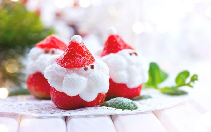 Fresas con forma de Papá Noel