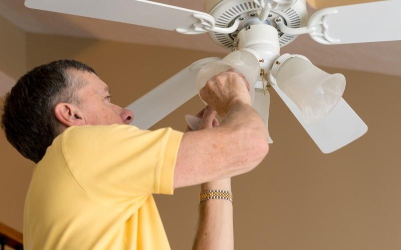 Instalar solo una toma eléctrica para tu ventilador de techo