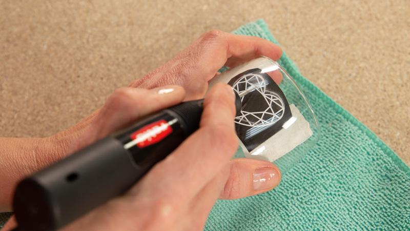 Cómo grabar cristal con el kit de grabado de Ratio