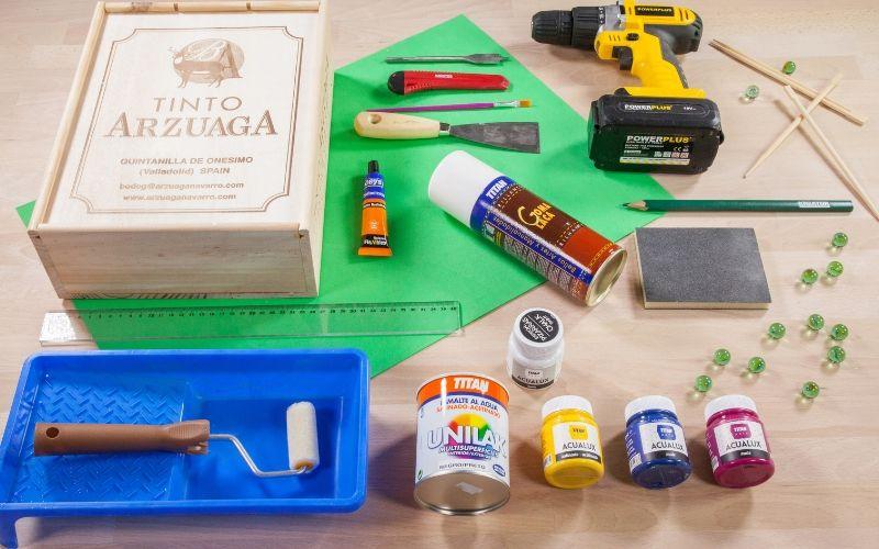Herramientas para crear el billar de juguete