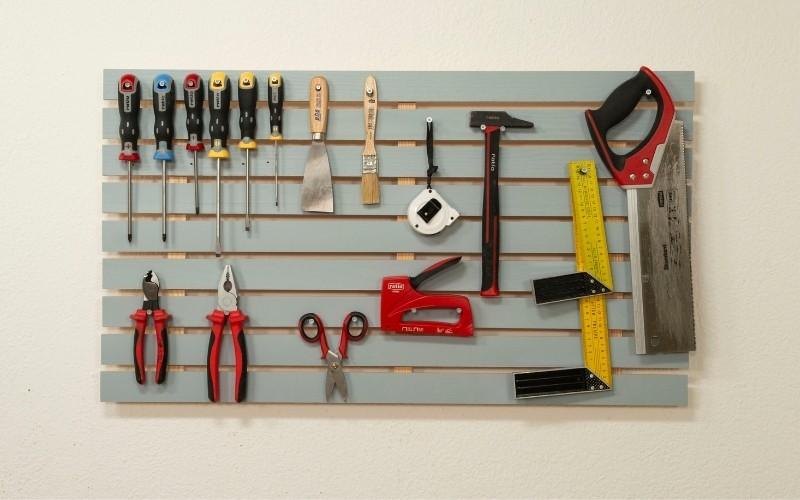 Panel de herramientas para ordenar tu trastero