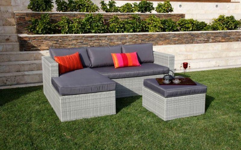 Muebles de fibra sintética excelentes para exterior