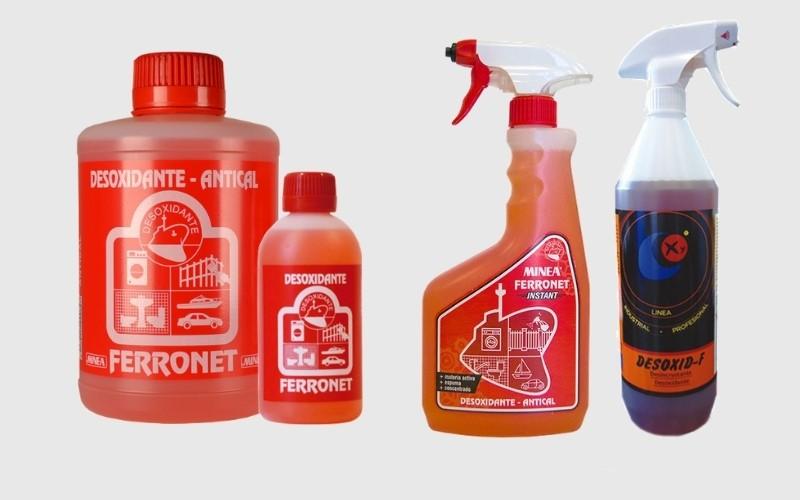 Productos químicos para quitar el óxido
