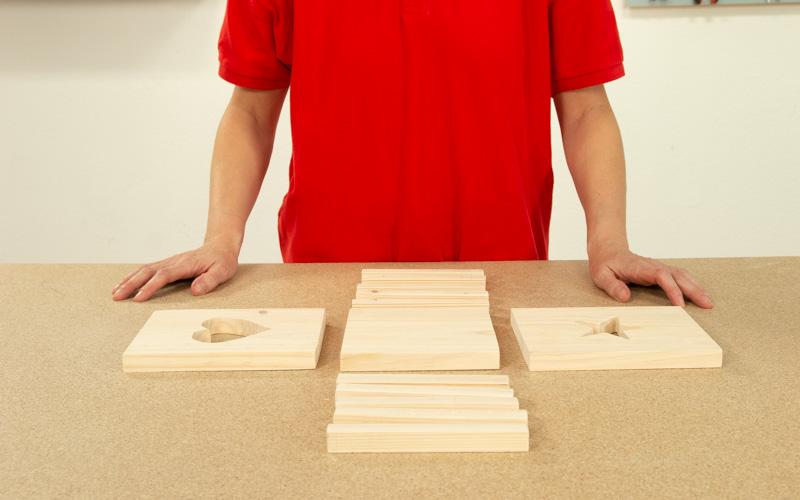 Piezas cortadas para caja decorativa navideña