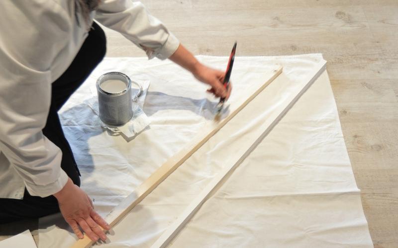Pinta la escalera decorativa