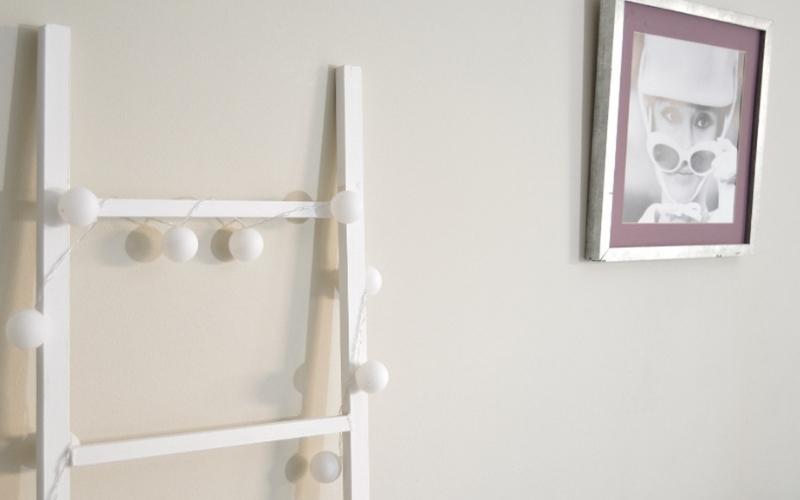 Escalera decorativa secando