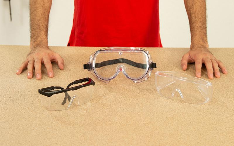 Tipos de gafas de protección