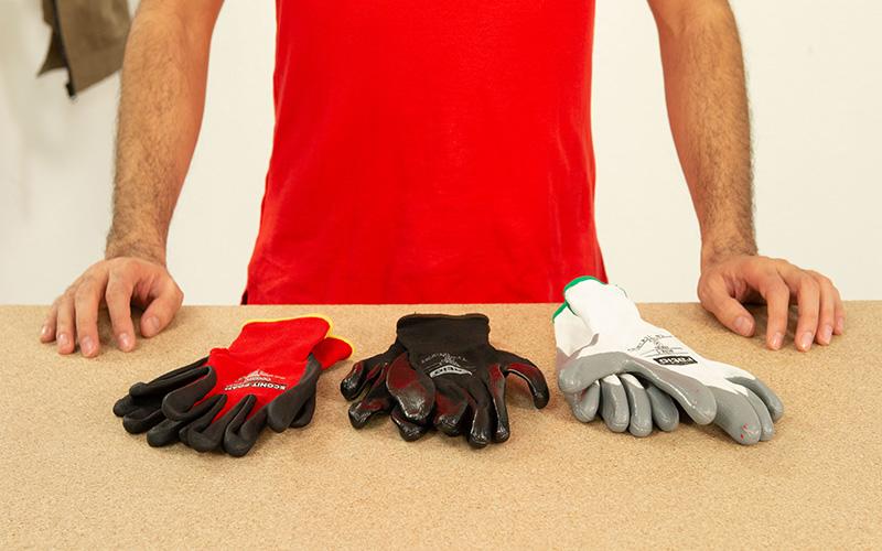 Tipos de guantes de protección para el bricolaje