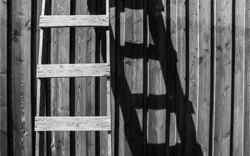 Escaleras de mano de madera