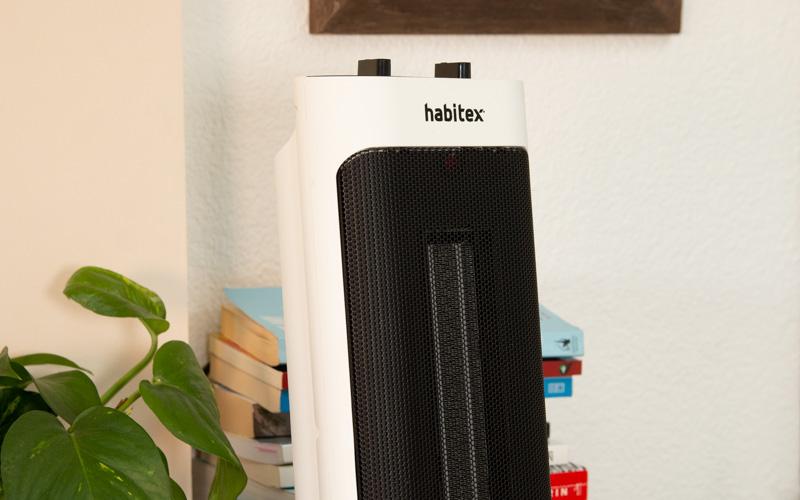 Estufa de Habitex en funcionamiento