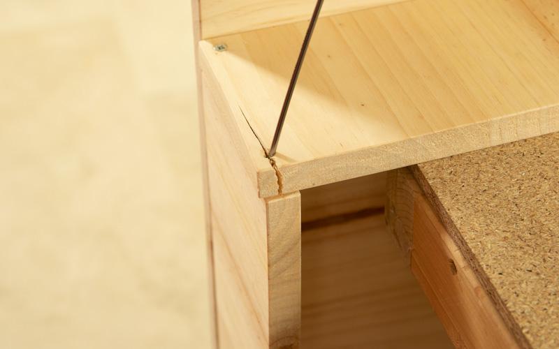 Arreglar una grieta en la madera