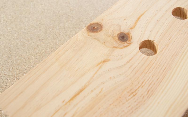 Tabla de madera como nueva