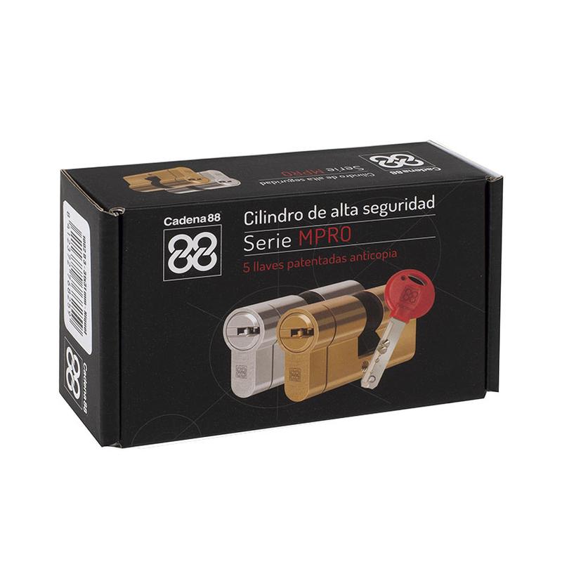 Cilindro de alta seguridad CADENA88 serie MPRO niquelado