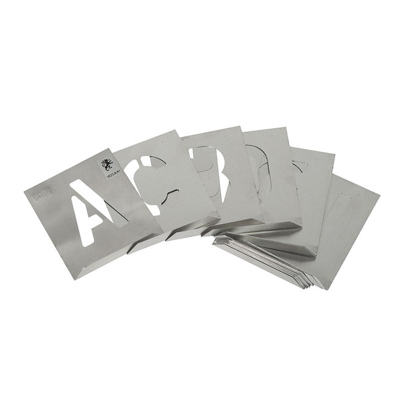 Abecedario aluminio tipografía Arial