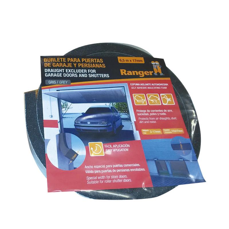 Burlete espuma garage MIARCO 6,5m/17mm