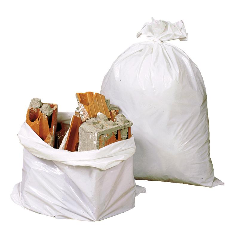 Saco escombros plástico