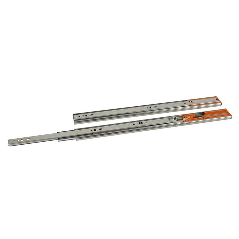 Guía metálica EUROLATON con amortiguador para cajones
