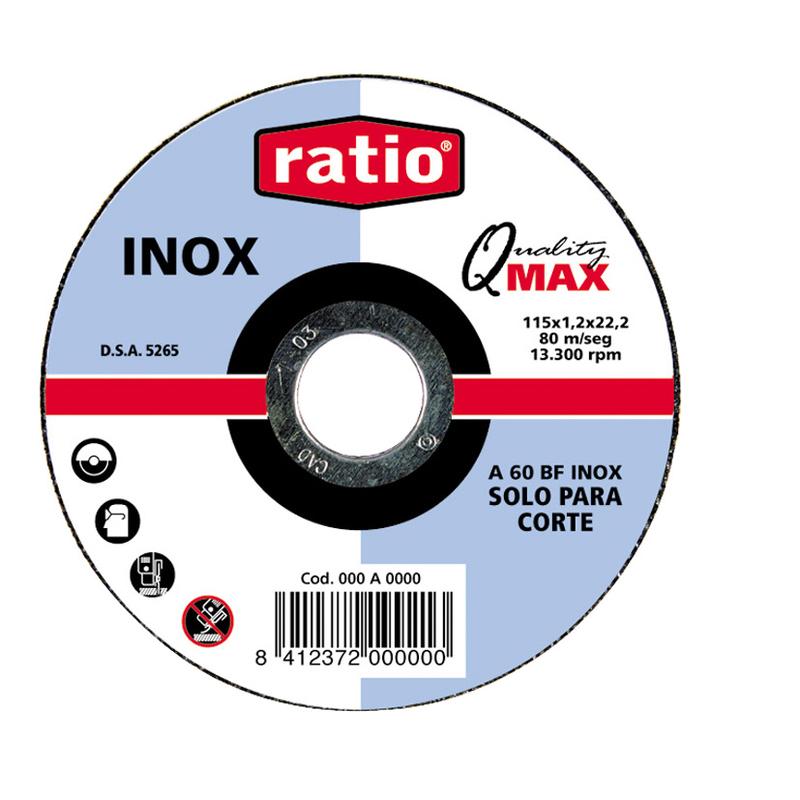 Disco de corte inox/metal RATIO Quality Max