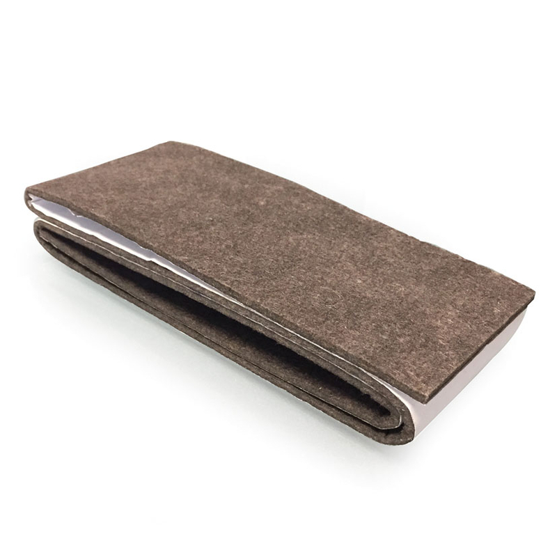 Tira fieltro marrón 85x1000 mm