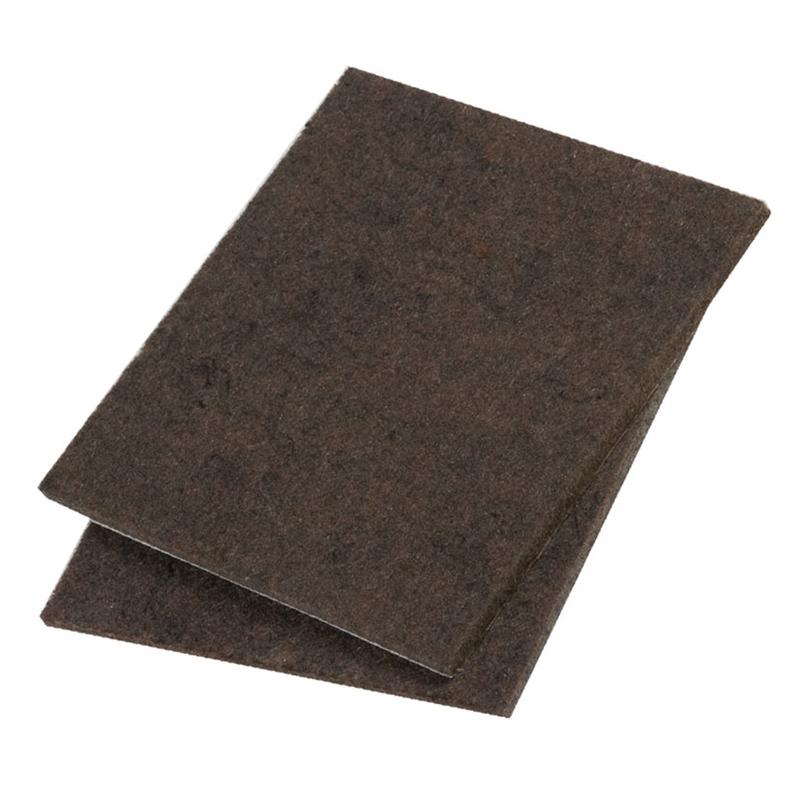 Pack de 2 placas tope fieltro 100x100 mm
