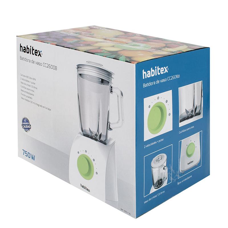 Batidora de vaso 750W HABITEX CC2600B