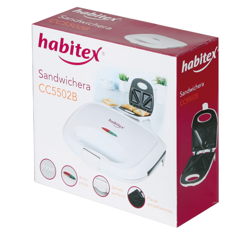 Sandwichera HABITEX CC5502B 700 W