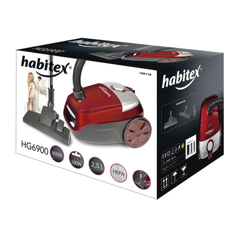 Aspirador con bolsa HABITEX 800W HG6900
