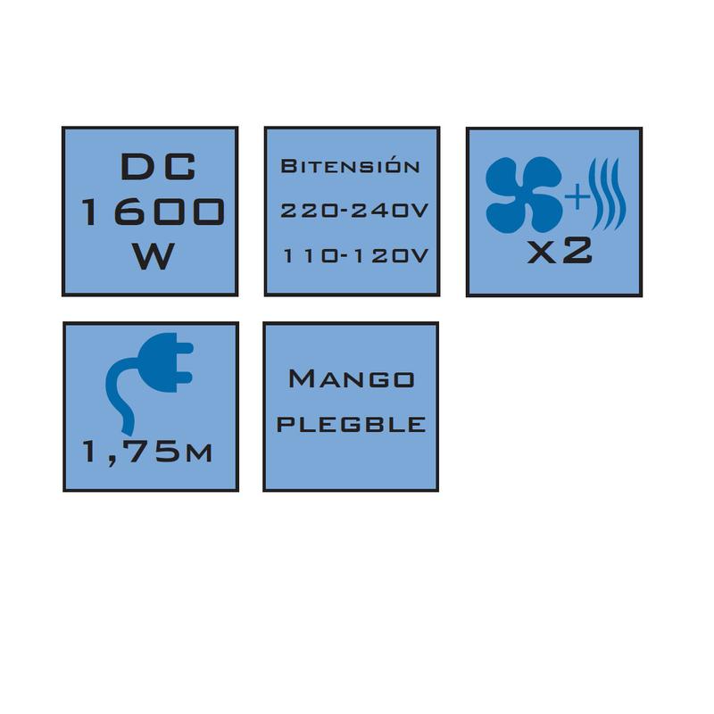 Secador de viaje HABITEX CP7800 1600W