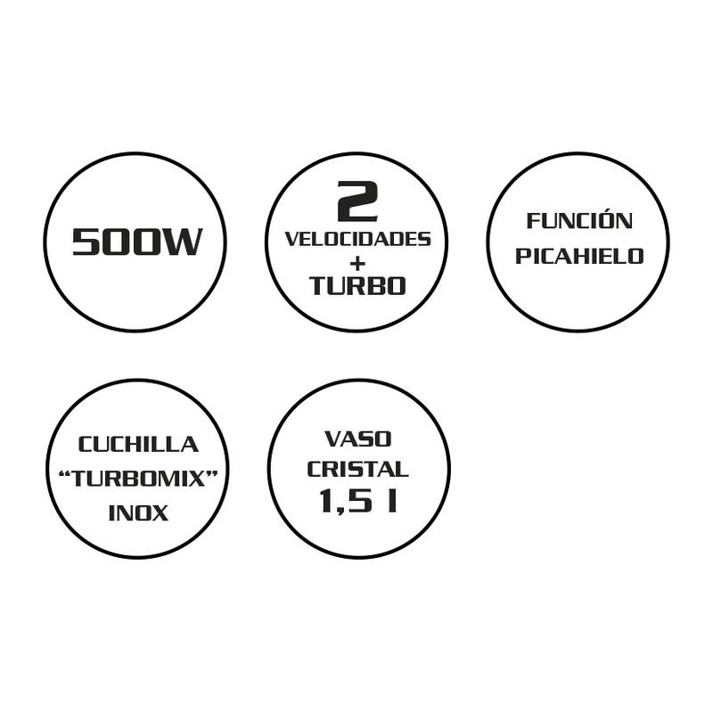 Batidora de vaso 500W HABITEX Style SC2800
