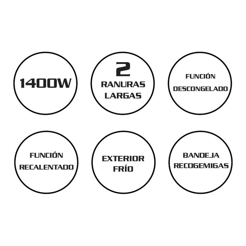 Tostador 1400W HABITEX SC4800