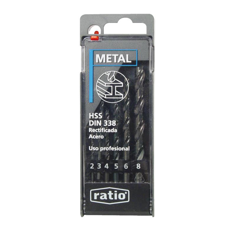 Estuche de 6 brocas para metal RATIO 1596