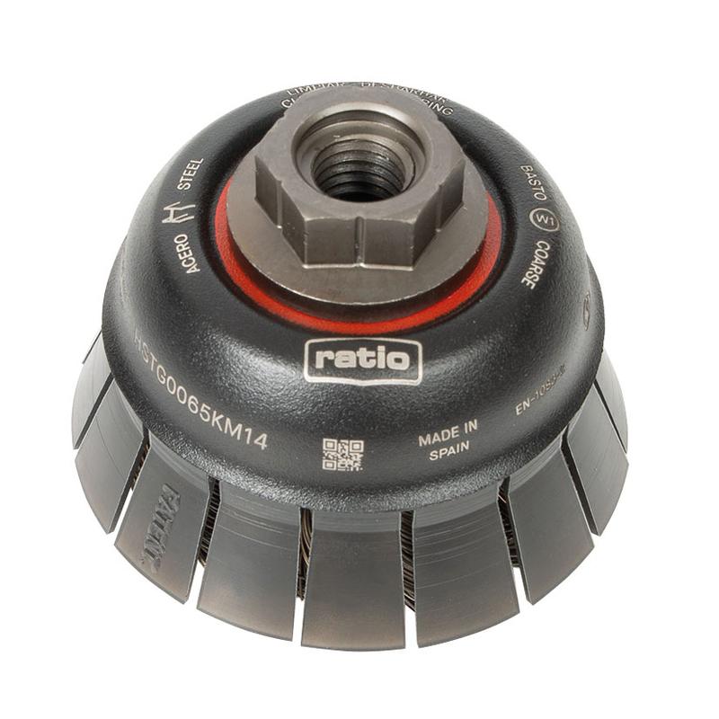 Cepillo abrasivo taza con guarda protectora RATIO 65 mm ProSerie 1623