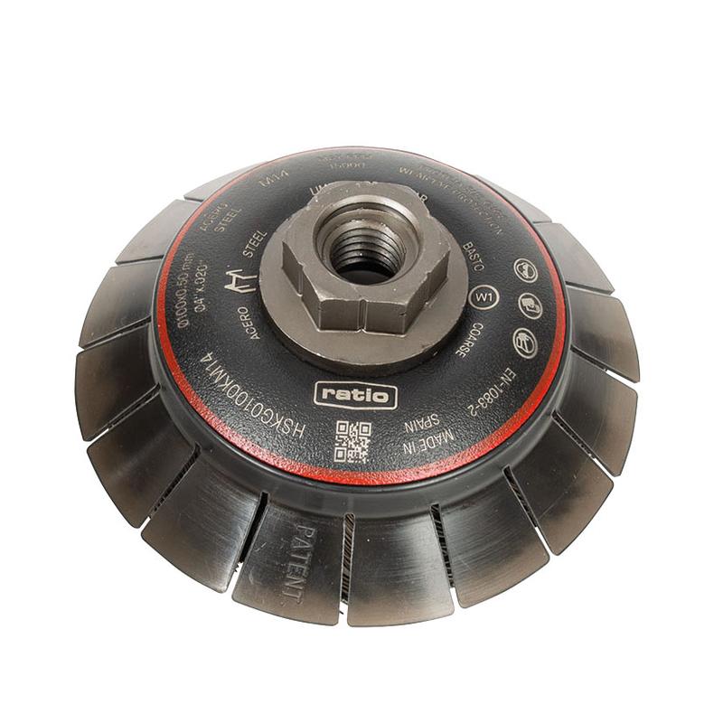 Cepillo abrasivo taza cónico con guarda protectora RATIO 100 mm ProSerie 1624
