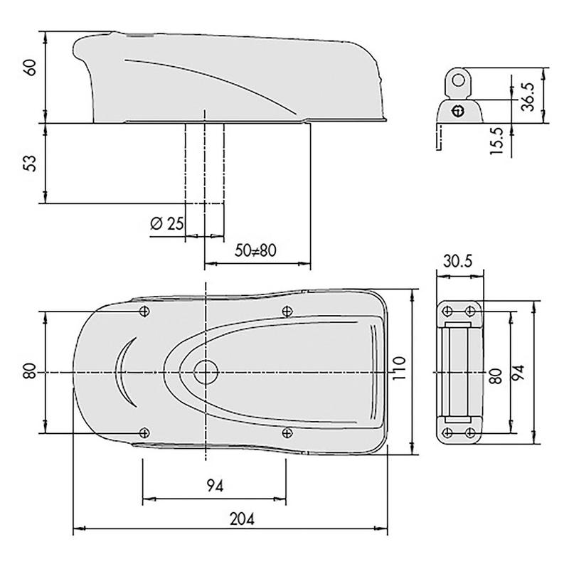 Cerradura sobreponer eléctrica CISA modelo 1A721