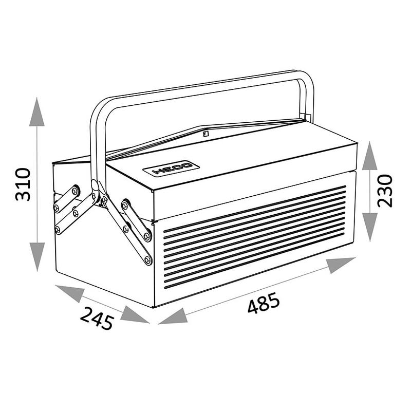 Caja de herramientas HECO Serie 102