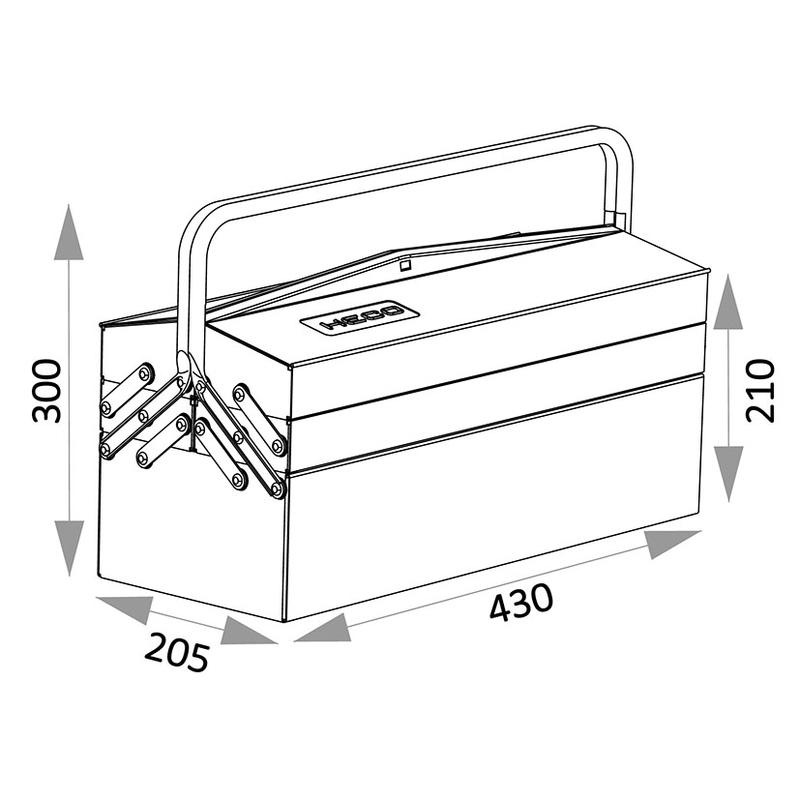 Caja de herramientas HECO Serie 108
