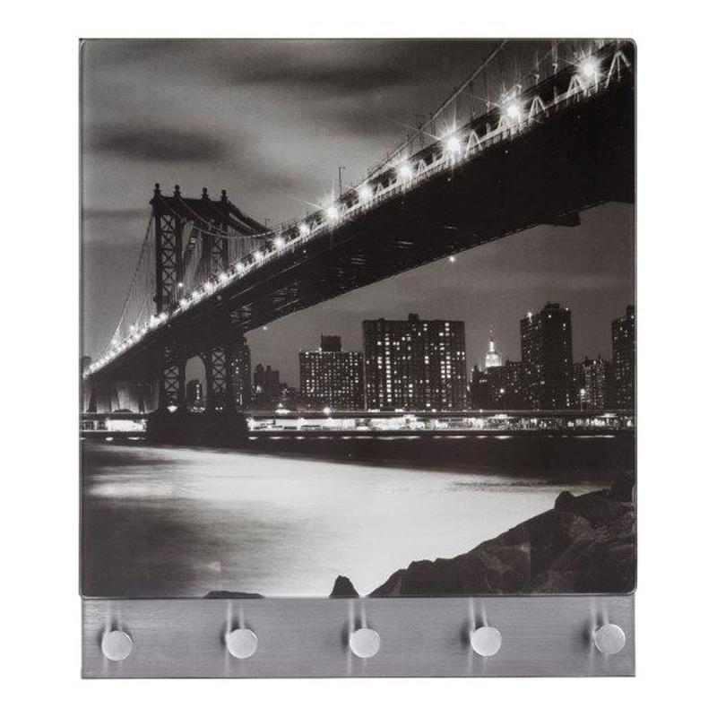 Perchero mural WENKO Manhattan Bridge