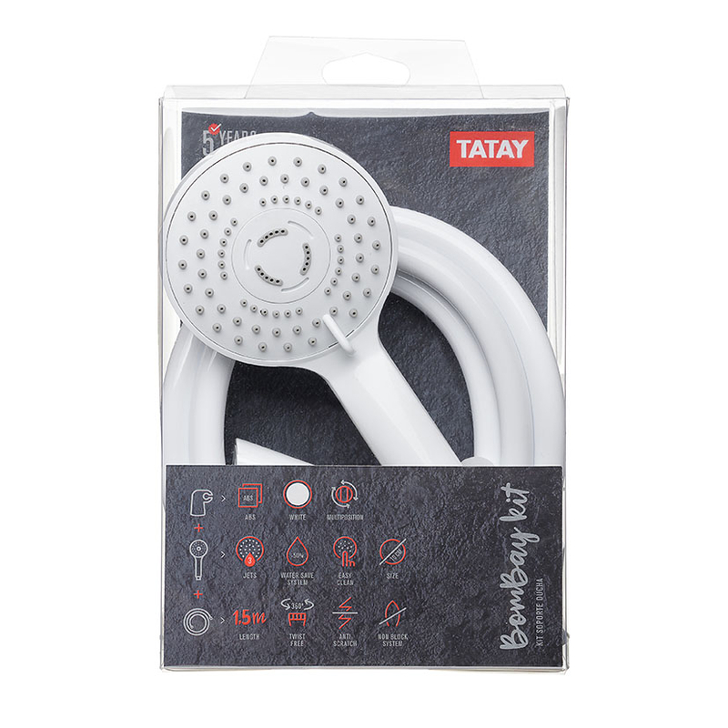 Kit soporte flexo TATAY Bombay blanco