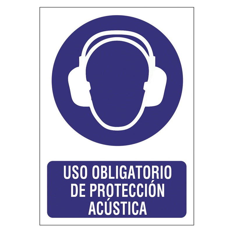"""Señal de obligación """"Protección acústica"""""""