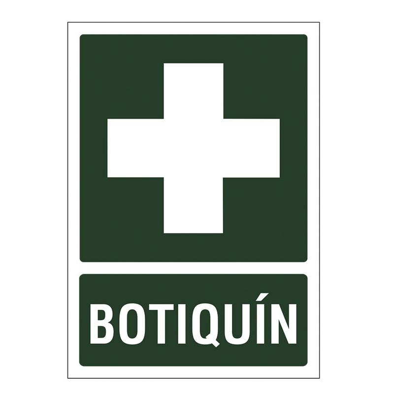 """Señal de vías de seguridad y salvamento """"Botiquín"""""""