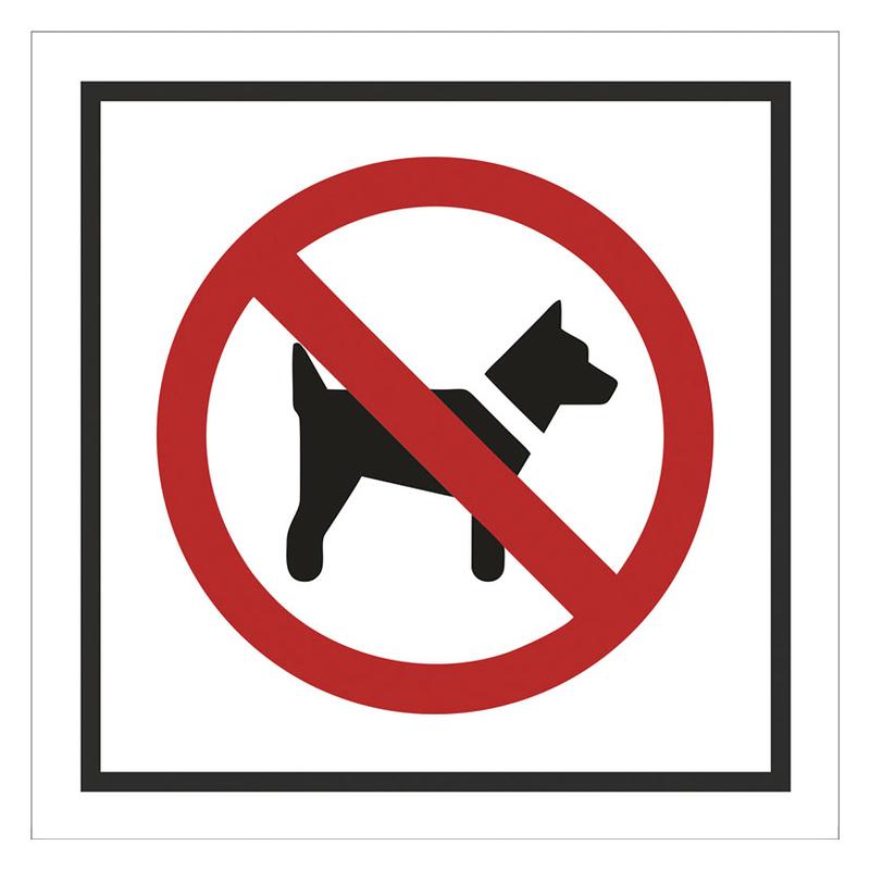 """Señal informativa """"Perros no"""""""