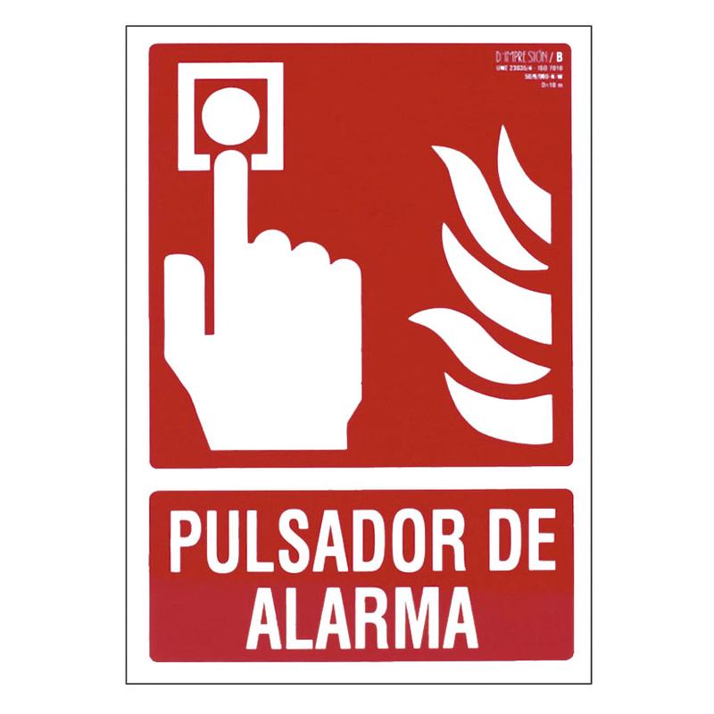"""Señal contra incendios """"Pulsador de alarma"""""""