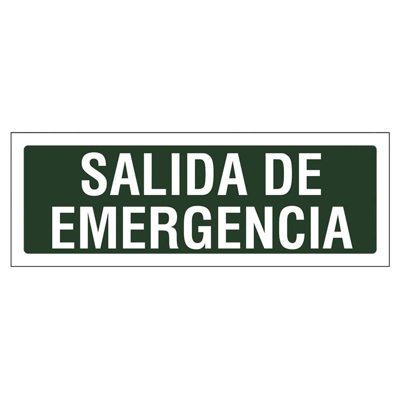 """Señal de vías de seguridad y salvamento """"Salida emergencia"""" 297xh.105 mm"""