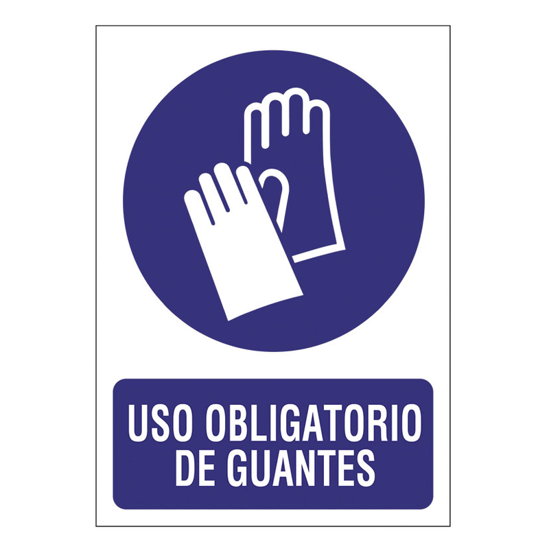 """Señal de obligación """"Guantes"""""""