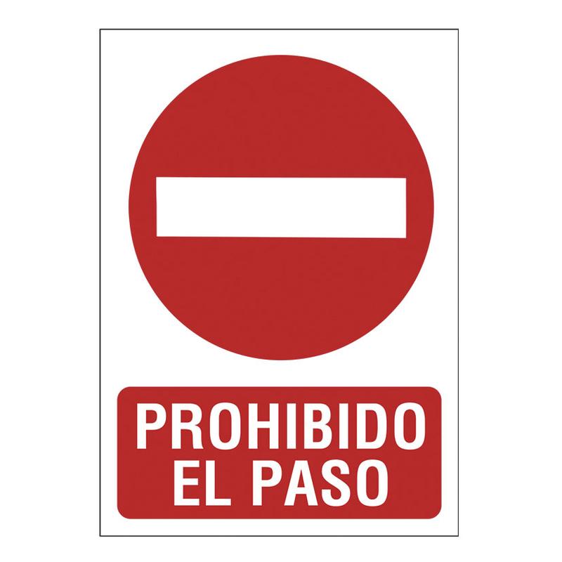 """Señal de prohibición """"Prohibido el paso"""""""