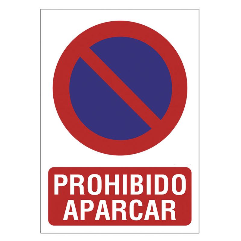 """Señal de prohibición """"Prohibido aparcar"""""""